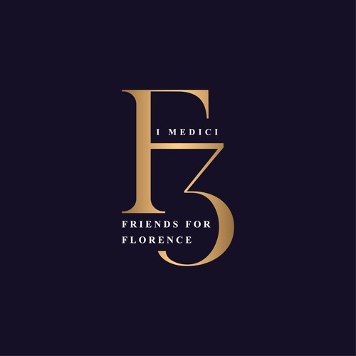 F3 - Logo for the charity of the city of Florence - Friends for Florence