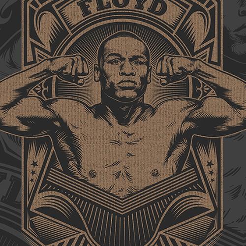 Floyd Mayweather Boxing T-Shirt Design