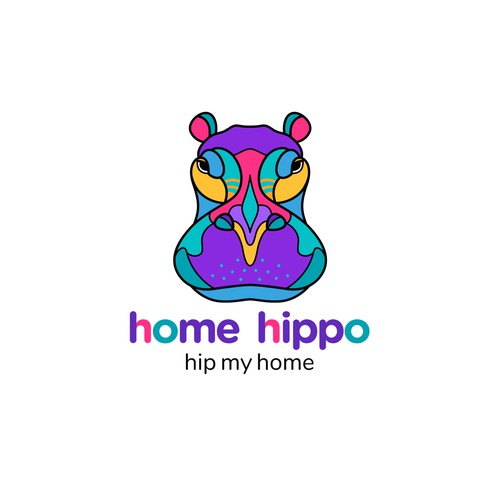 "Logo for the Home Furnishing and decor company ""home hippo"""