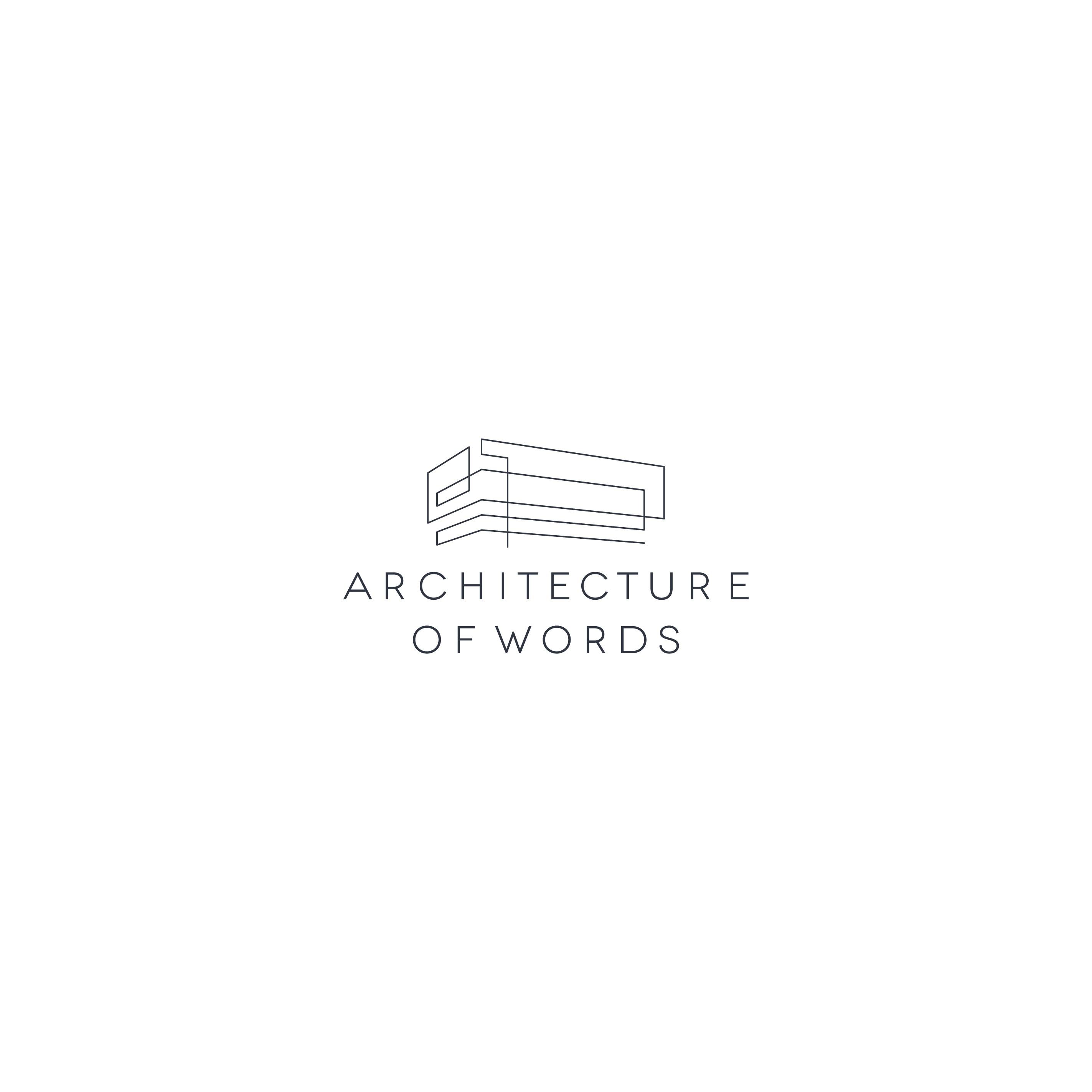 Writer seeks minimal logo with a nod to Agnes Martin and Frank Lloyd Wright