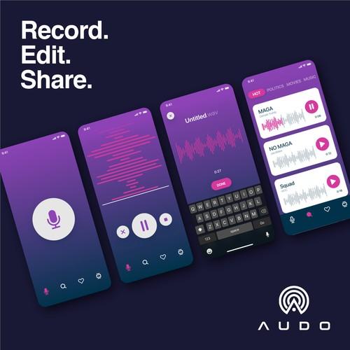 Modern UX/UI Design for audio app