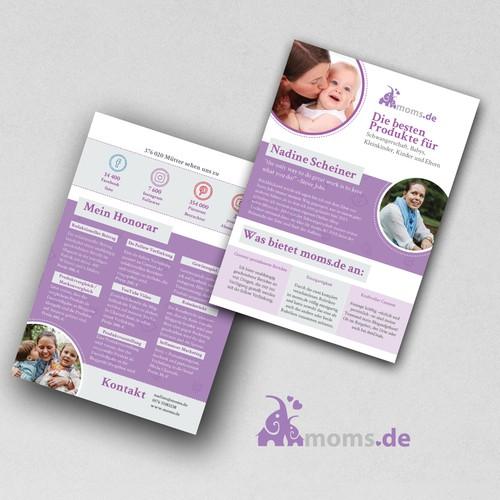 Flyer für Moms.de