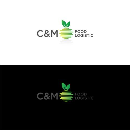 Bold logo concept for C&M Food Logistics.