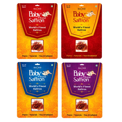 Premium Packaging Design for leading Saffron spice brand from India