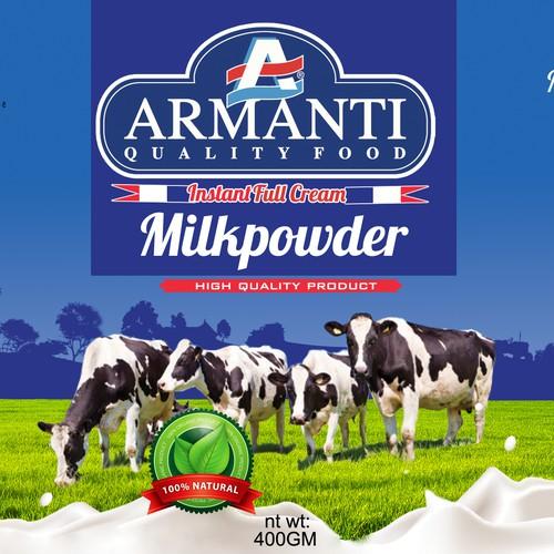 Label design for Armanti Milkpowder