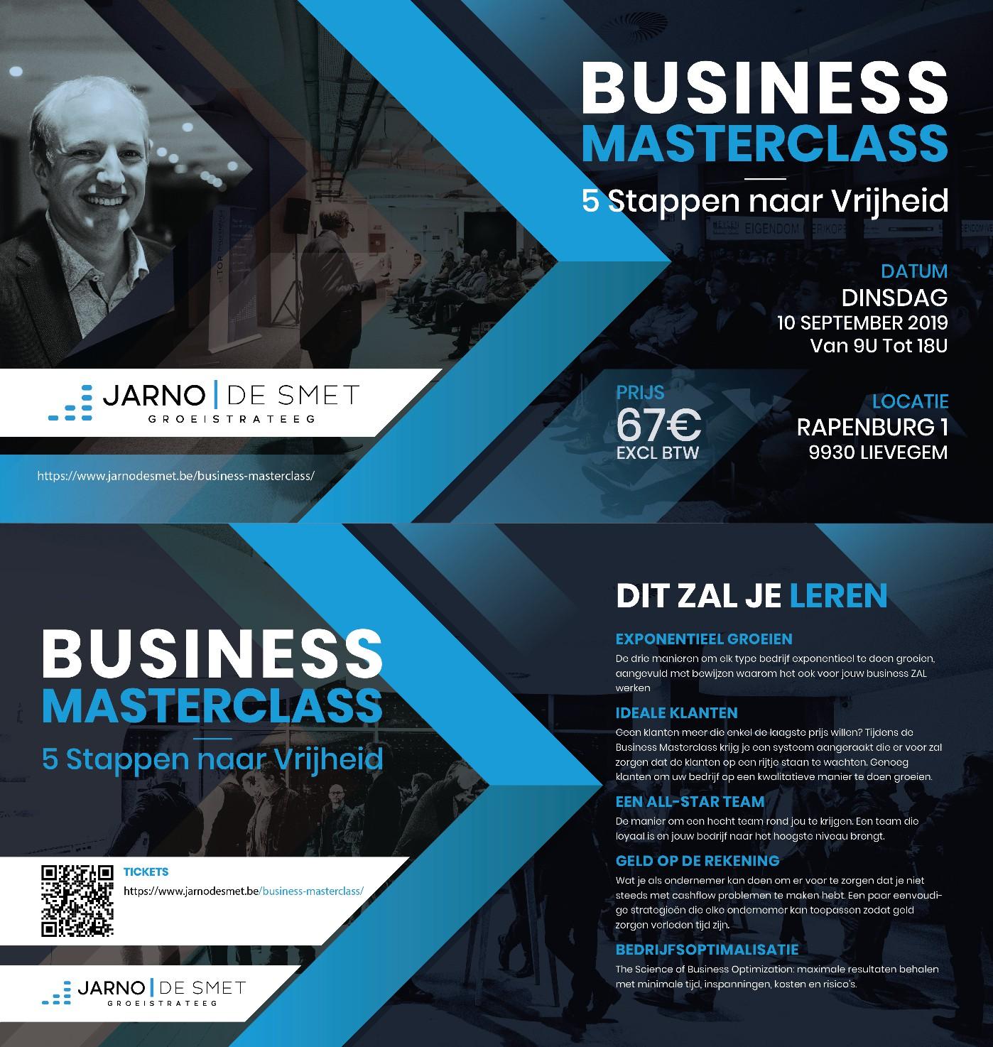 Uitnodiging voor Business Masterclass