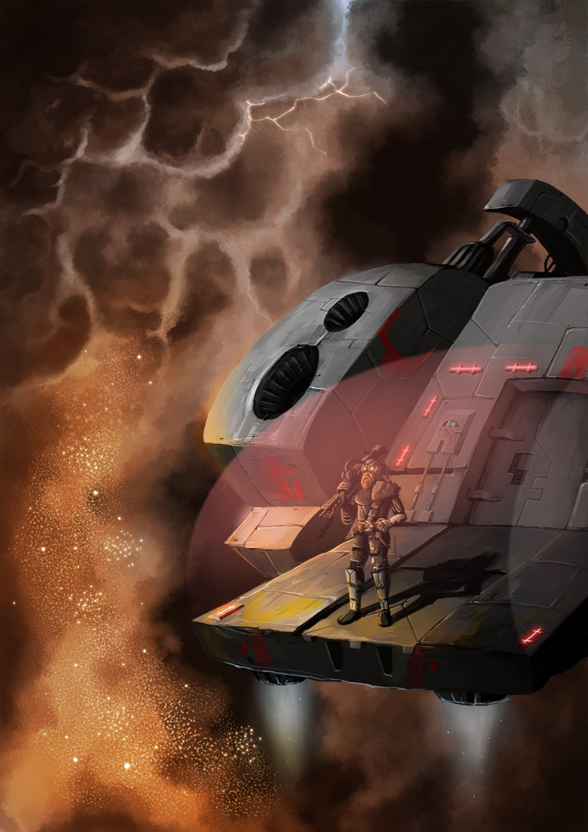 Create an exciting Sci fi illustration for Future Fantasy Publishing