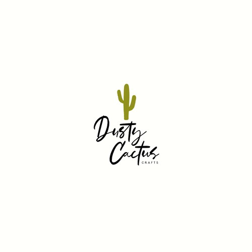 Logo concept for Dusty Cactus Crafts
