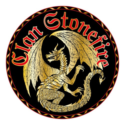 Create a logo to represent a British dragon-shifter clan!