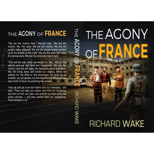 Cover for third book in series of Occupied France thrillers