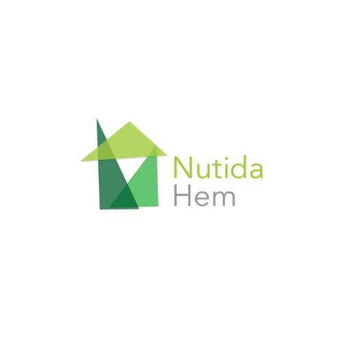 Create a simple logo that is modern and serious, incuding a quite subtle modern house