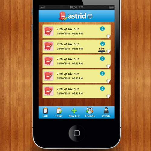 Help Astrid  with a new app design