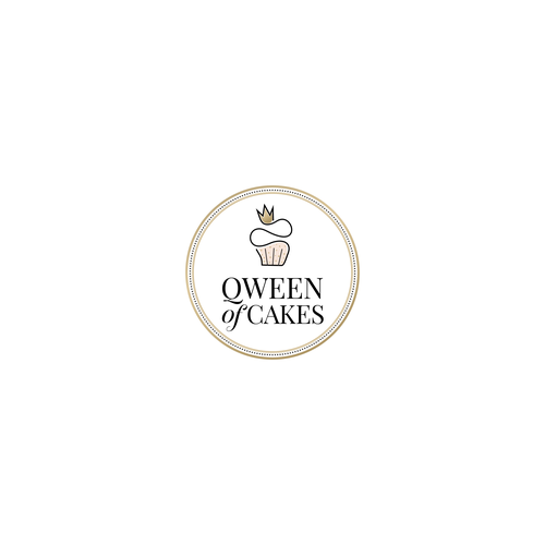 Elegant logo concept for Qween of Cakes