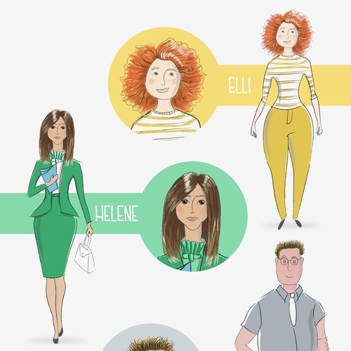 Character design for different types of personalities