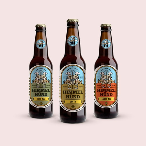 Winning design for Himmel Hünd Craft Beer