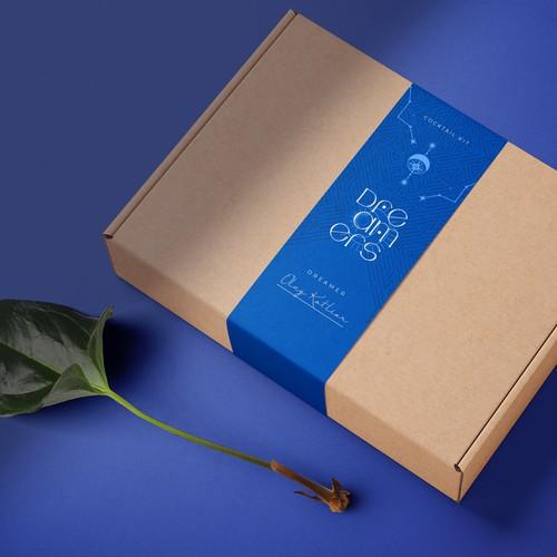 Shipping box label design