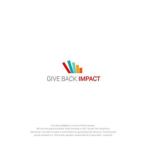 Logo Concept For Give Back Impact