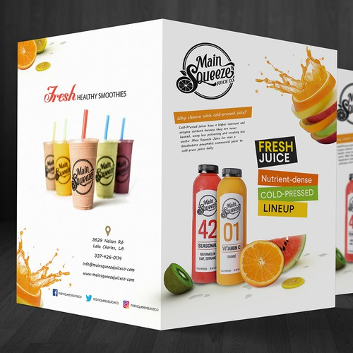 Brochure design for Main Squeeze Juice Co