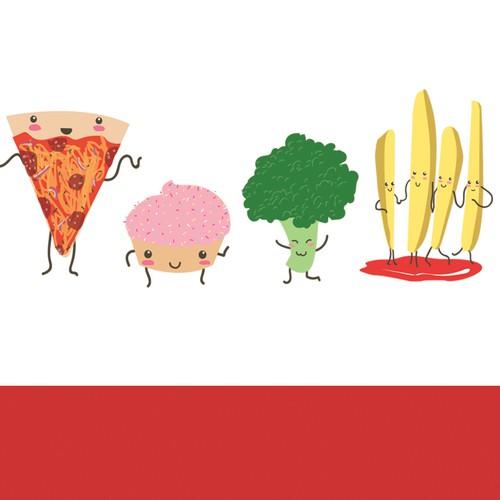 Food Flipped T-shirt