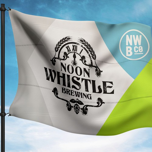Identity Flag for Noon Whistle Brewing
