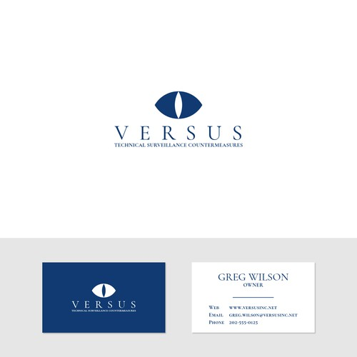 Sophisticated logo for a surveillance firm