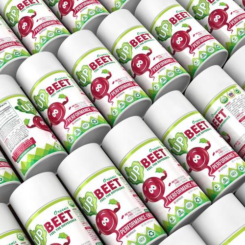 UP BEET label design