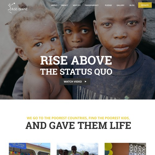 Website for a non-profit organization