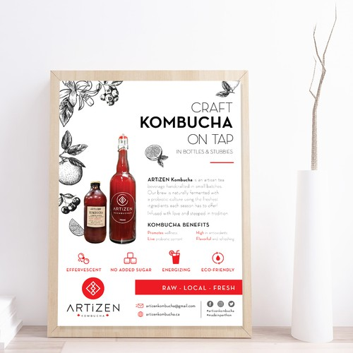 Signage for ARTiZEN Kombucha