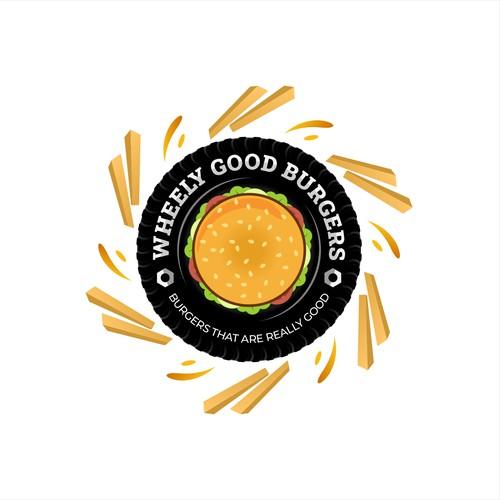 Logo design Proposal for Wheely Good Burgers
