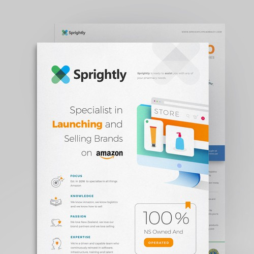Sprightly Brochure Designs