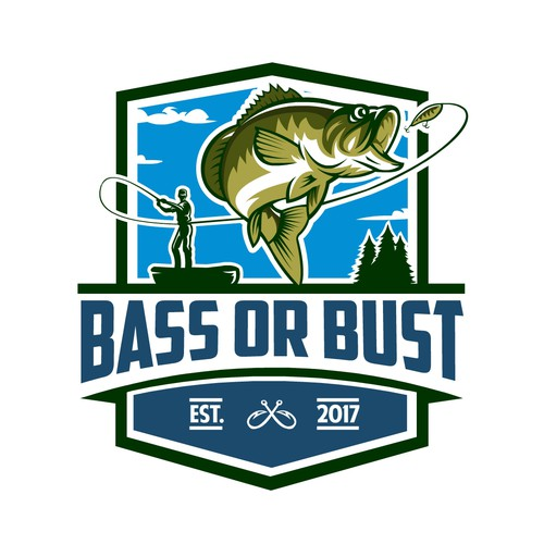 Bold logo concept for Bass or Bust