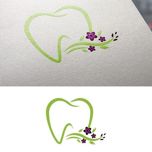 Feminine dentist logo