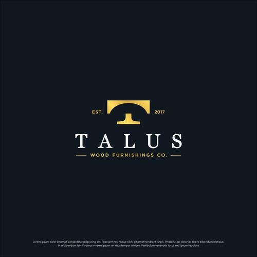 Simple T logo for Talus Wood Furnishing