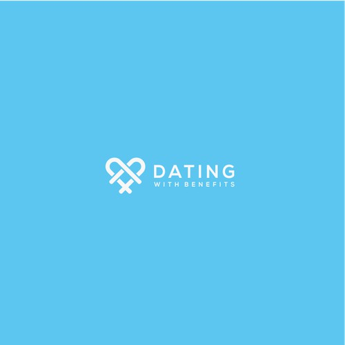 logo concept for Dating With Benefits