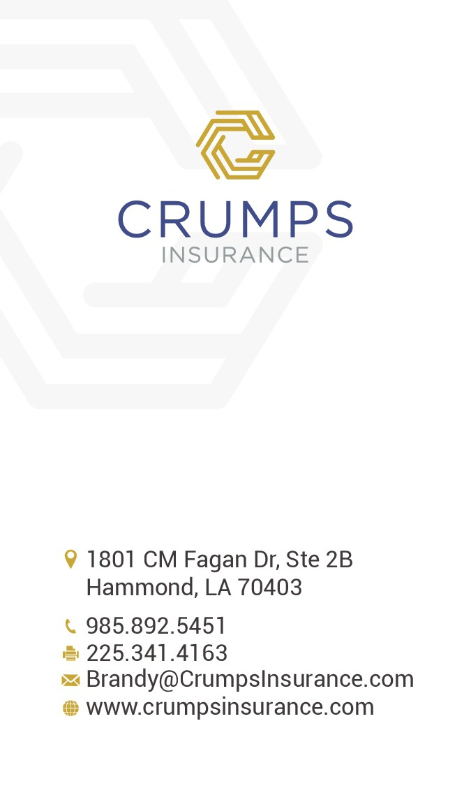 Create a business card and letterhead for Crumps Insurance