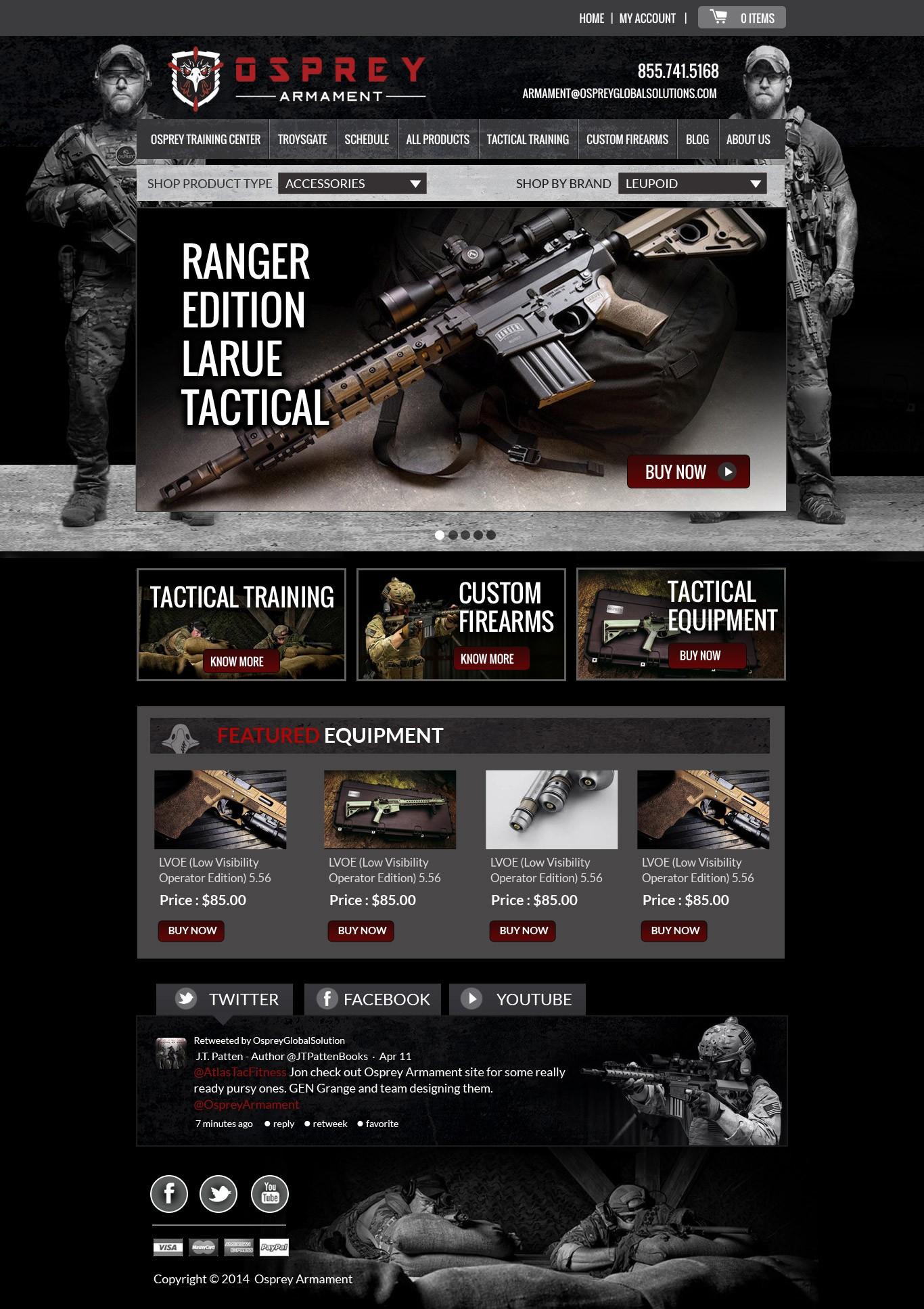 OspreyArmament.com Home Page Contest.