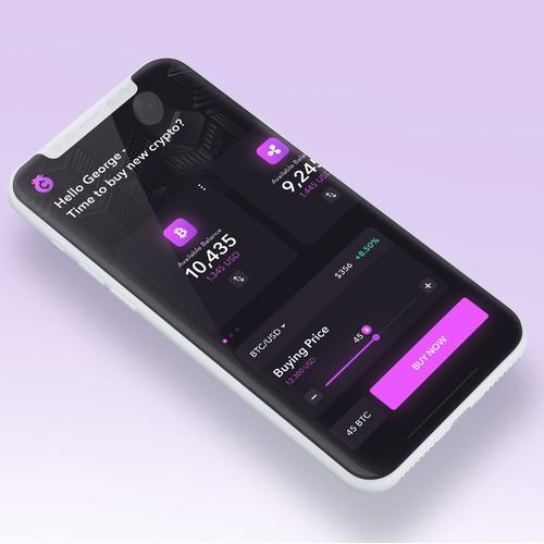 Dark UI Crypto App