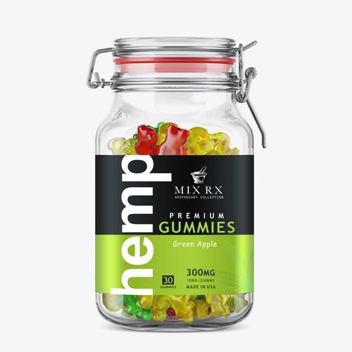 Premium  Hemp Gummies label design