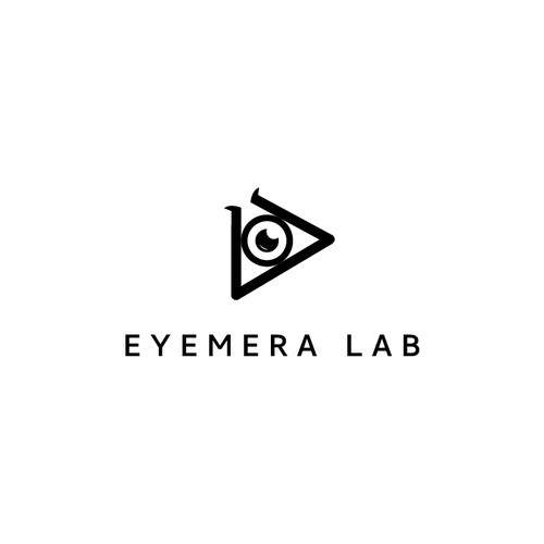 Clean minimalist logo design for Eyemera Lab