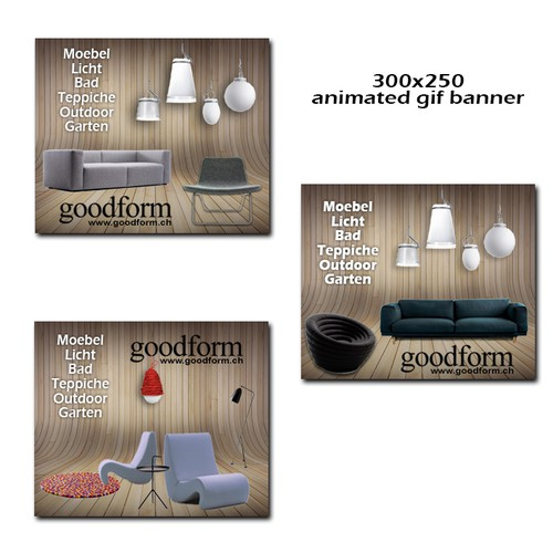 web banners for luxury online furniture shop