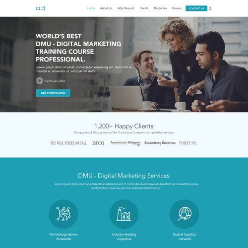 Corporate Business Home Page