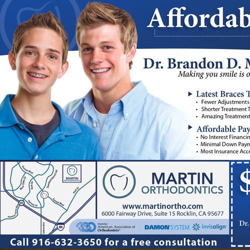 Orthodontic Ad with coupon
