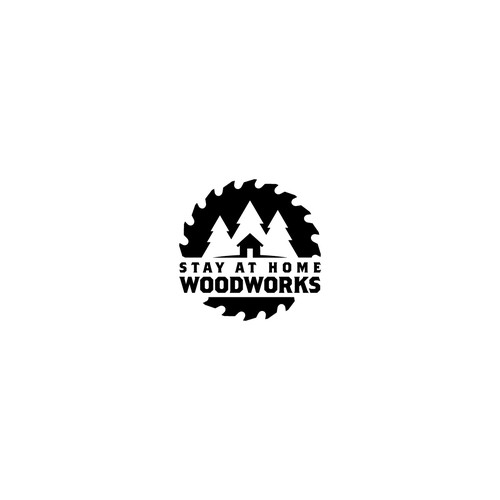 Logo Design for Stay at Home Woodworks