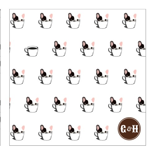 Pattern for dog and coffee related company