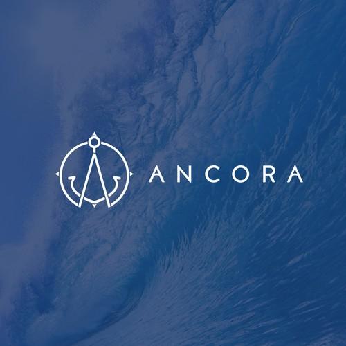 Minimal style anchor logo