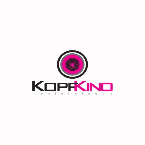 Create the next logo for KOPFKINO meaning: inner/mental cinema