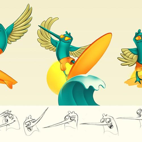 Surfin Bird Illustration