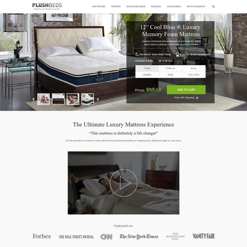 Redesign of a Luxury Mattress Product Page