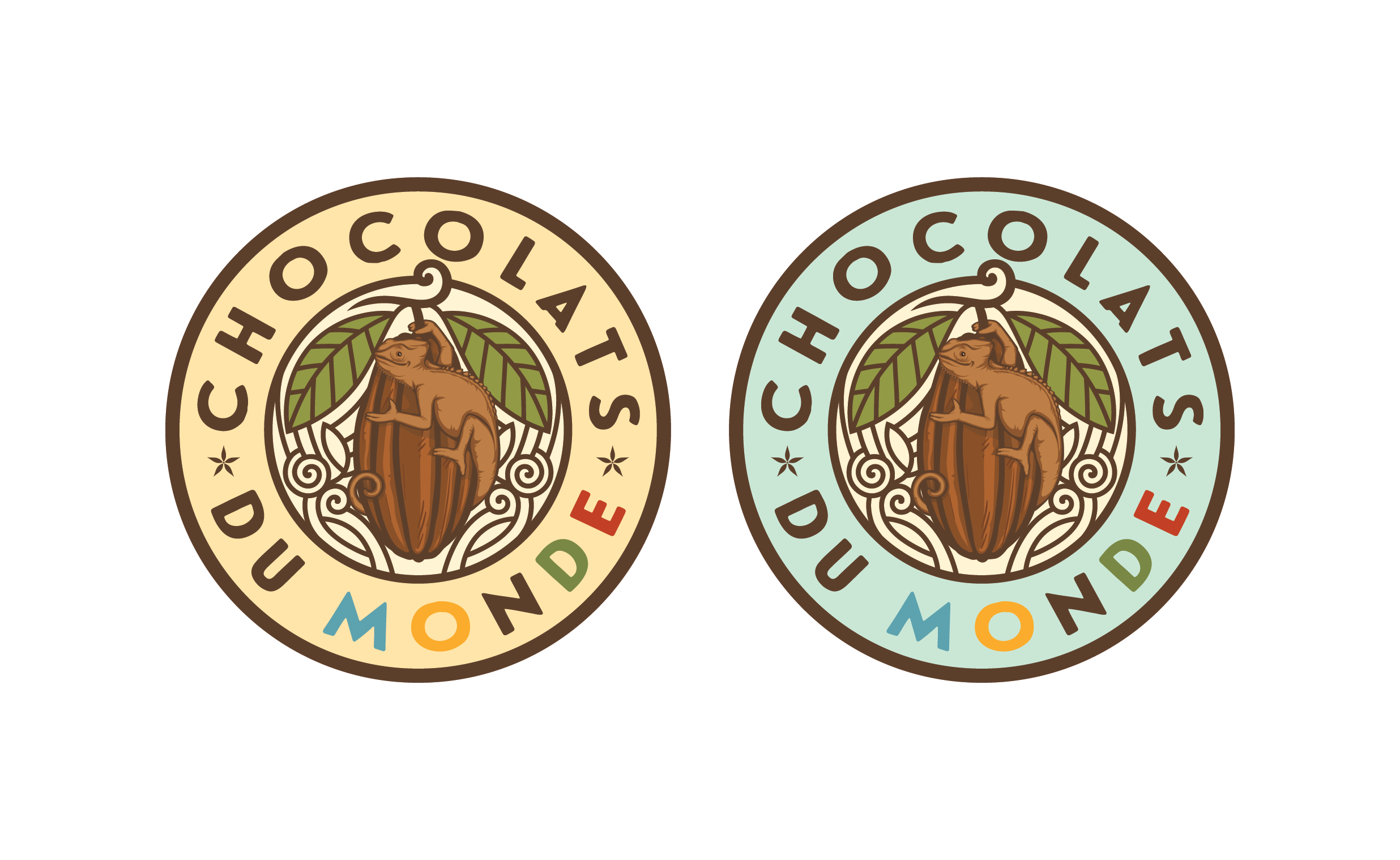 Create the logo of a chocolate shops franchise