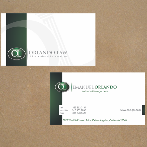 New stationery wanted for Orlando Law, P.C.